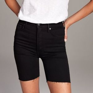 Denim Forum Lola High Rise Black Bike Shorts